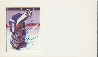 """Michel """"bunny"""" Laroque - Autographed Stickered Index Card Toronto Maple Leafs"""