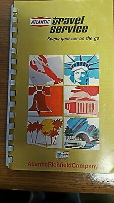 Old   Atlantic Richfield  Gas Station  Travel Service Tour Guide 1969