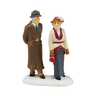 """Department  56 DICKENS Village """"A LADY AND GENTLEMAN FRIEND"""" New  2015 FREE SHIP"""