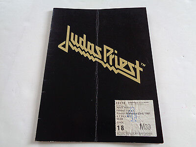 Judas Priest 1981 Uk Concert Programme And Two Concert Tickets