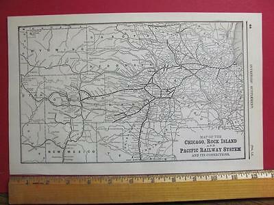 122 Year Old Chicago Rock Island & Pacific Railroad System Map Printed In 1895
