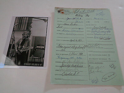 Allman Brothers Early Duane Era Concert Booking Slip 16 April 1971 Columbia Sc