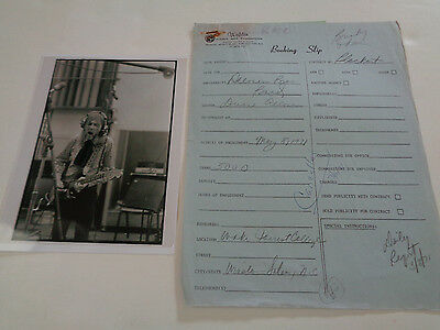 Allman Brothers Early Duane Era Concert Booking Slip May 18 1971 Salem Nc