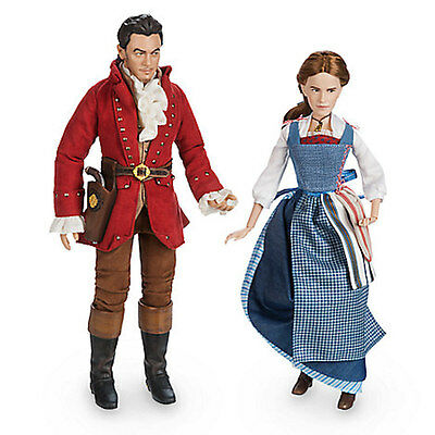 Disney Store Beauty and the Beast Live Action Film Belle & Gaston Doll New w Box