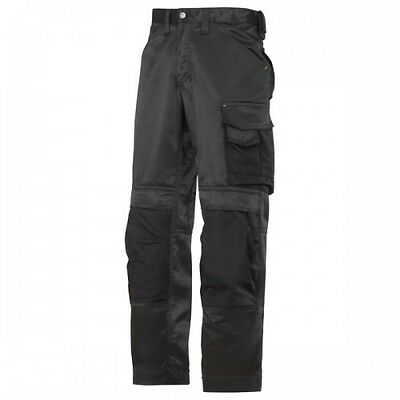 """Snickers 3312 7404 Craftsmen Trousers Duratwill Muted Black/black W35"""" L30""""(096)"""
