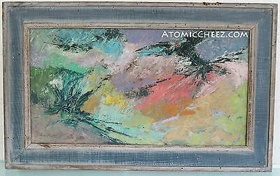 COOL! Vintage 50s 60s SIGNED Mid Century Modern ABSTRACT EXPRESSIONIST Painting
