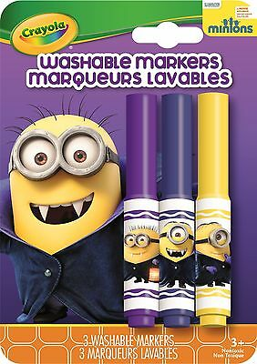 Crayola Minions Pip-Squeaks Markers (Limited Edition) - Gone Batty - 3 pack
