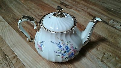 *vintage* Bean Sadler England* Teapot*floral* Flowers* With Gold*