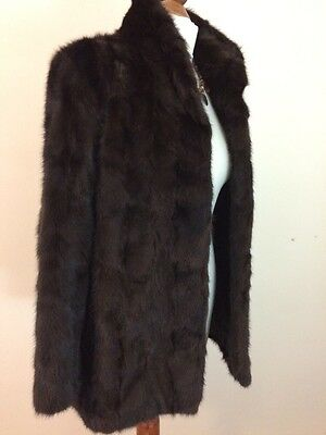 Vintage Gorgeous Demi Buff Mink Real Fur Jacket Coat Estuk 8-10