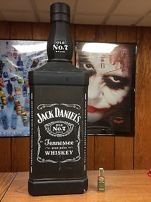 Rare Jack Daniels 38 Inch Tall Store Display Bottle -No Gold Medal Fire Green
