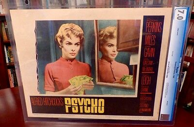 HITCHCOCK, HORROR, Janet Leigh Lobby Card PSYCHO (1960) $40k McGuffin, Vint&Orig