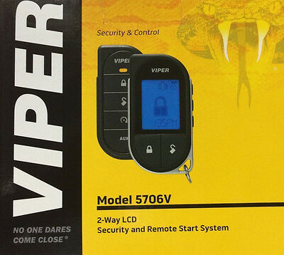 VIPER 5706V Alarm Mobile 2-Way Pager Security System w/ Keyless Remote Start NEW