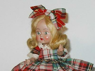 1950s Vintage Early Cosmopolitan Ginger Doll in Plaid Outfit!