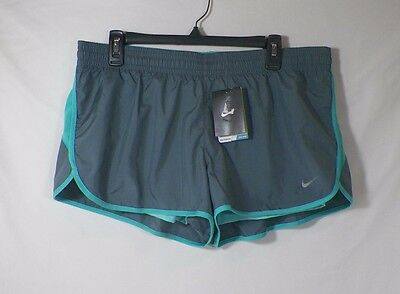 Nike Dri Fit Women's 2 In 1 Twisted Tempo Running Shorts Gray Sz Xl #677312- Nwt