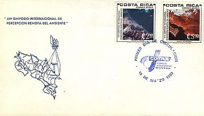 Costa Rica First Day Cover 1980 Symposium On The Environment Issue