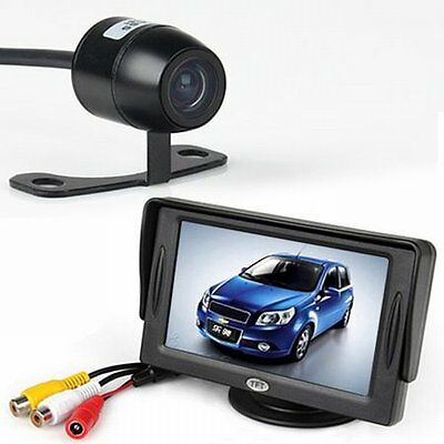 "NEW 4.3"" LCD Monitor + Night Vision Security Reversing Camera Car Rear View Kit"