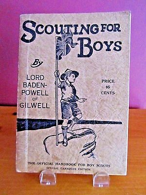 Scouting For Boys Special Canadian Edition 1939 Official Handbook For Boys
