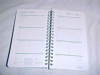 2017 Day Planner Calendar Appointment Book Refill Insert Week at a Glance Spiral