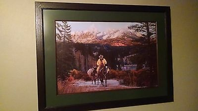 "TIM COX PRINT ""Where the Mountains Reach the Sky"", Signed, #'d, L/E, Framed"