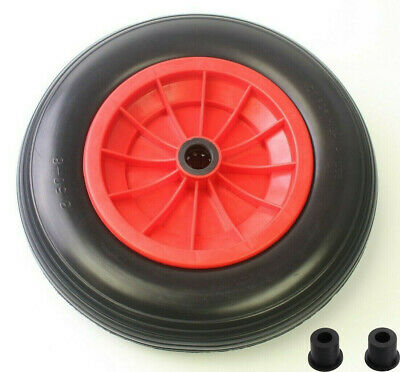 "PU 14"" Puncture Proof Solid Industrial Wheelbarrow Wheel Tyre 3.5-8 Light Weight"