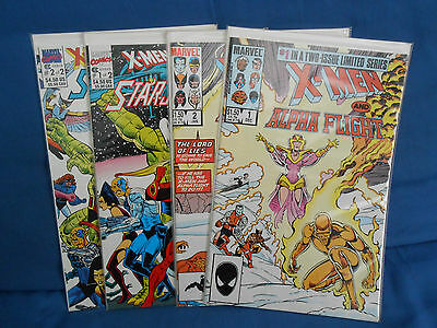 X-Men and Alpha Flight & X-Men Spotlight on Starjammers NM