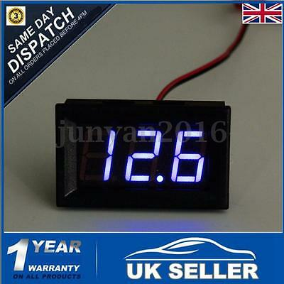 Waterproof DC 3~30V LED Digital Display Voltmeter Voltage Gauge Car Motor Blue