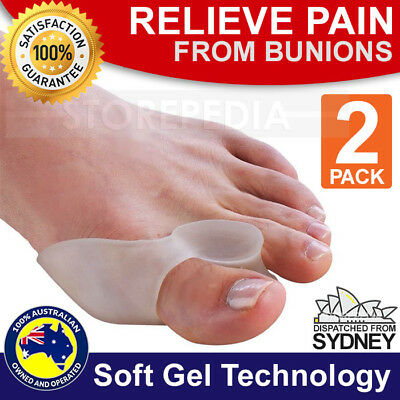 2 Silicone Gel Bunion Protector Toe Straightener Separator Alignment Pain Relief
