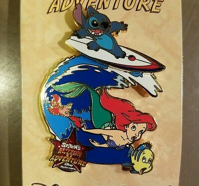 Disney Pin Le Stitch Ariel Little Mermaid Action Adventure Mgm Studios