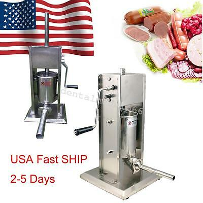 From USA SHIP Sausage Stuffer Vertical 5L/15LB 11 Pound Meat Filler 304 SS FDA