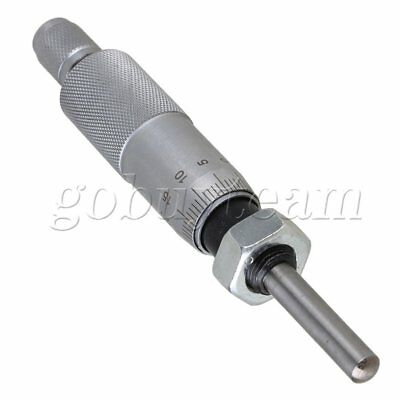 0 - 25mm Metal Thread Micrometer Head Round Type Precision Measure Tool With Nut