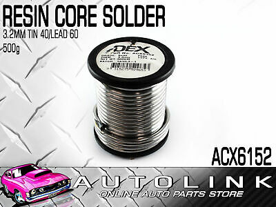 OEX ACX6152 ACID CORE SOLDER ROLL 3.2mm 40% TIN 60% LEAD OLD OLDER CABLE 500g