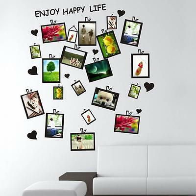 Art DIY  Picture Photo Frame Set Wall Sticker Decal Decor Home Room Office Black