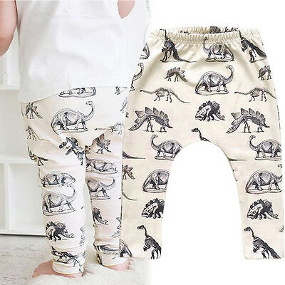 Toddler Kids Baby Boys Girls Dinosaur Printed Harem Pants Trousers Leggings