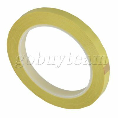 Electric Insulation Yellow Polyester Adhesive Tape 66m x 10mm Heat Resistant