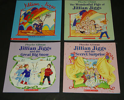 Lot of 4 - Jillian Jiggs Books - Phoebe Gilman Softcover Scholastic Pigs Snow