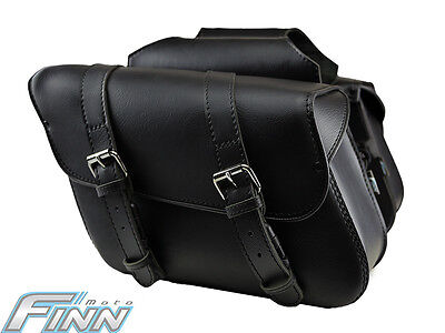 Black Motorcycle Saddlebags Throwover for Harley Davidson Dyna Street 500