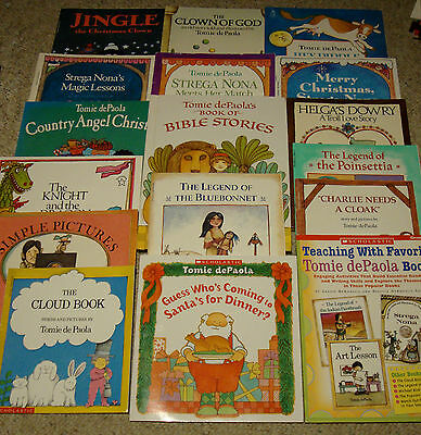 Lot 16 Tomie dePaola Picture Books + Teacher's Guide Softcover VGC Caldecott RL2