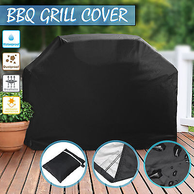 """100CM BBQ Cover Gas Grill Black 39"""" Barbecue Duty Waterproof Protection Outdoor"""