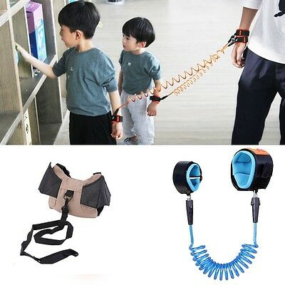 Anti Lost Spring Wristband safety Harness Rope Belt Elastic Wire Kids Baby Gifts