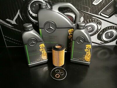 Genuine Mercedes-Benz E-Class E200 E220 E250 CDI Oil Filter & Engine Oil OM651