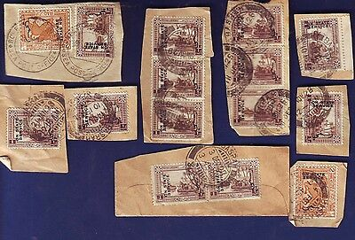 Iraq *3*  British Occupation STATE SERVICE ON PIECE Local Cancels SEA POST PAIR
