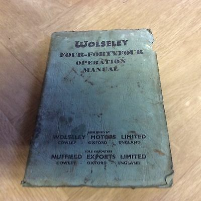 Garage Find Classic Wolseley FOUR-FORTYFOUR Operation Manual