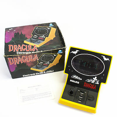 Vintage Electronic 1982 Tabletop VFD Dracula Video Game by Hales, Boxed