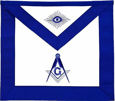 Masonic Blue Lodge Master Mason Apron  Embroidered Lambskin