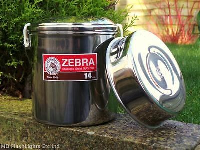 14Cm Stainless Steel Zebra Billy Can Cooking Pot Bushcraft Survival Camping