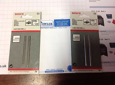 Two X Packs Of Bosch Planer Blades 2607-000-096 Genuine