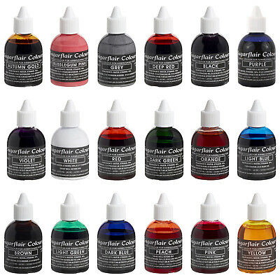 Sugarflair Edible Food Colour Liquid For Airbrushing Birthday Cake Decorating