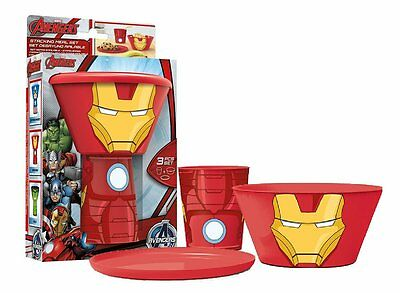 Marvel Avengers Stacking Meal Sets Children's Cup Bowl Plate Lunch Dinner Set