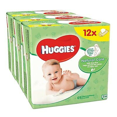 Huggies Natural Care Baby Wipes - 12 Packs (672 Wipes Total)