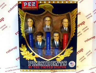 PEZ Volume VII Presidents PEZ dispensers Gift Boxed with 6 packs of PEZ Candy